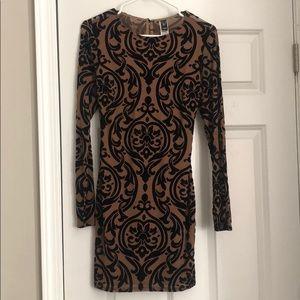 Windsor Nude & Black Bodycon Dress